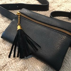 NEW Pebbled Leather Belt Bag
